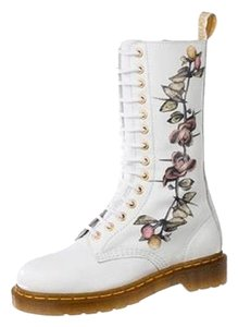 Dr. Martens Limited Edition Flowers Louise Body White Boots