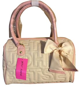 Betsey Johnson Tote in Bone/Blush