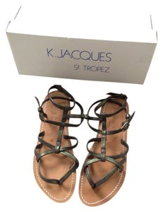 K.JACQUES Metallic Green Flats