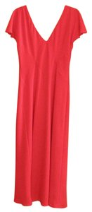 Jones New York Bright Cocktail V-neck Elegant Dress