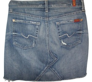 7 For All Mankind Mini Skirt blue denim