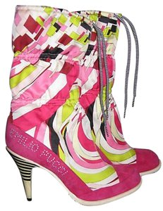 Emilio Pucci Snow Moon Multi-colored Boots