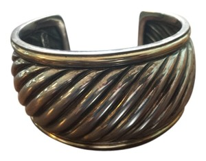 David Yurman Sculpted Cable Cuff Bracelet with Gold