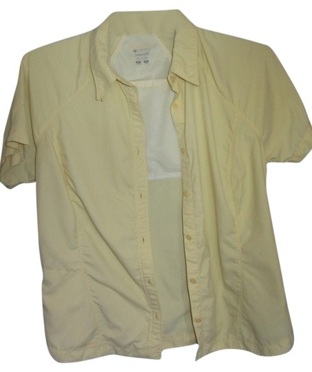 Columbia Sportswear Company Yellow Titanium Vented Top 85%OFF