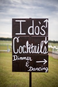 Custom Painted Wooden Signs For Outdoor Wedding -- Rustic Just Married