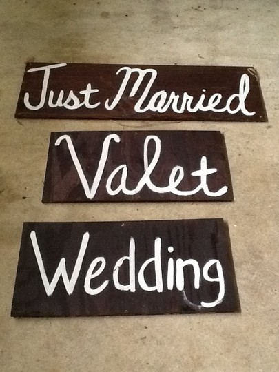 Brown Custom Painted Wooden Signs For Outdoor Rustic Just Married Other