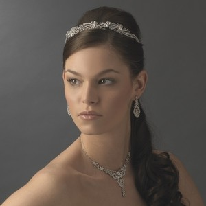 Elegance By Carbonneau Vintage Inspired Tiara & Wedding Jewelry Set
