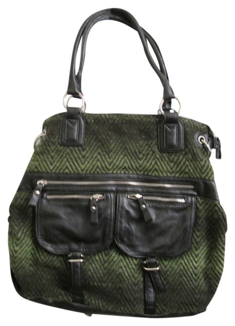 Item - Tough Urban Outfitters Green and Black Fabric Hobo Bag