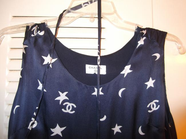 Chanel short dress Navy Blue and White on Tradesy