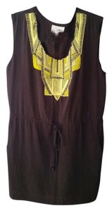 Anthropologie short dress brown Embellished Yellow on Tradesy