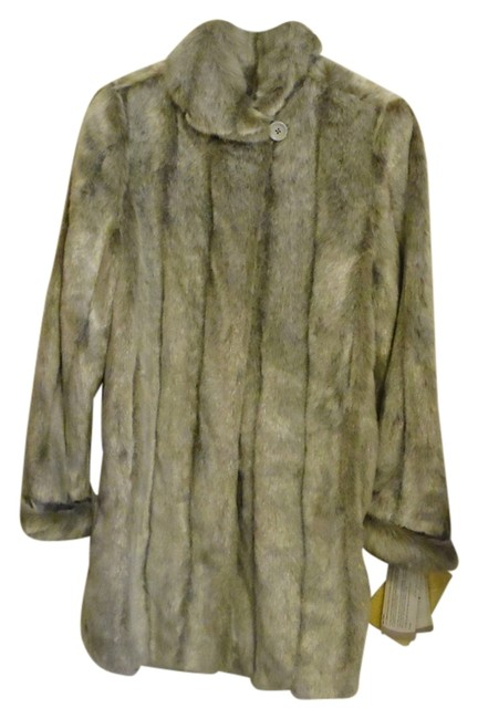 Item - Grey Mid-length Faux Medium Coat Size 10 (M)