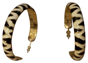 Kenneth Jay Lane KJL NWOT Zebra hoop earrings