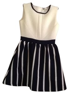 Listicle short dress Navy and cream Nautical Mini on Tradesy