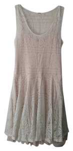 Free People short dress white lace Tulle on Tradesy