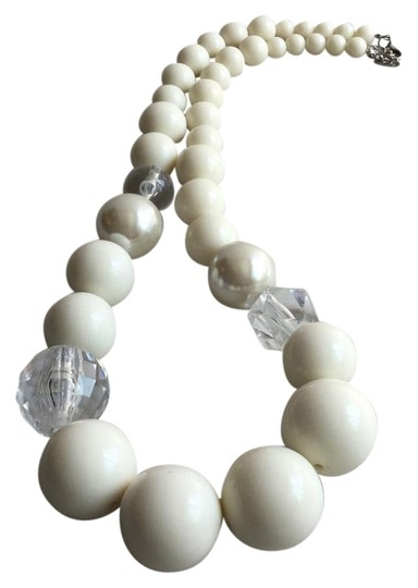 Preload https://item5.tradesy.com/images/balls-of-faux-ivory-pearl-and-crystal-light-catcher-eye-catcher-necklace-5481559-0-3.jpg?width=440&height=440