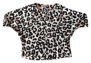 Ann Taylor LOFT Top Black/white animal print