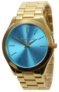Michael Kors Michael Kors MK3265 Runway Blue Dial Gold Tone St Steel Ladies Watch
