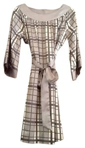 BCBGMAXAZRIA Plaid Silk Dress