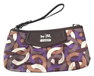 Coach Classic Classic Wristlet in Multi - Brown, Purple, White, Green