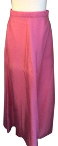 A.B.S. by Allen Schwartz Ball Gown Floor Length Hot Taffeta Maxi Skirt Pink