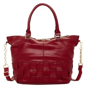 deux lux Vegan Leather Satchel in cranberry