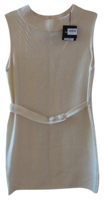 Rhys Dwfen short dress Winter White Cashmere Cable Belt Buttons Wool on Tradesy