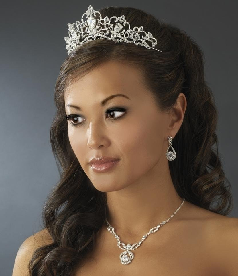 Elegance By Carbonneau Fairytale Wedding Tiara And Jewelry