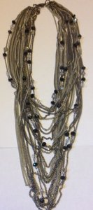 Other Black & Silver multi strand neckace