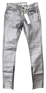 BCBGeneration Leggings Metallic Skinny Jeans-Coated