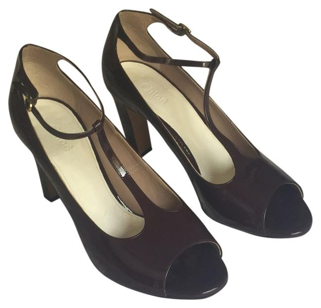 Chloé Burgandy Pumps Size US 10.5 Regular (M, B) Chloé Burgandy Pumps Size US 10.5 Regular (M, B) Image 1