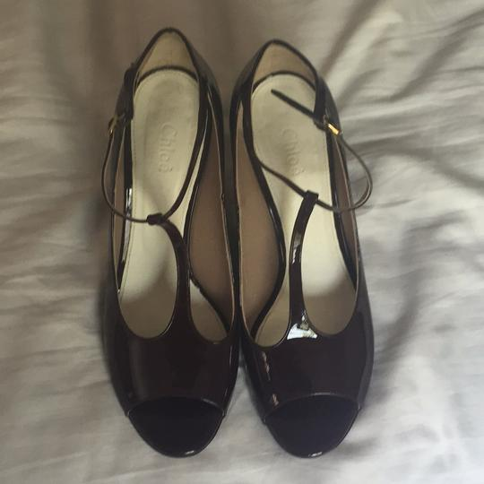 Chloé Burgandy Pumps