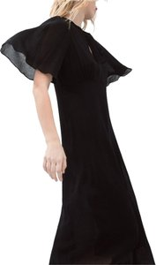 Black Maxi Dress by Zara Cape New Nwt Long