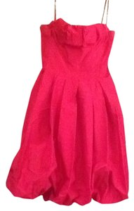 BCBGMAXAZRIA Evening Silk Pleated Dress