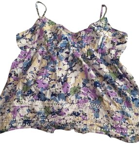 Aéropostale Blueberry / Lavender / Green / Yellow / Light blue / white Halter Top