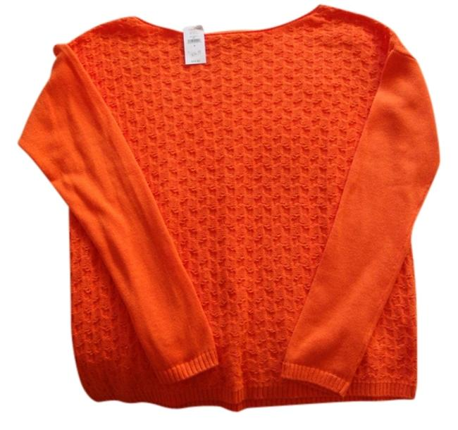 Preload https://item3.tradesy.com/images/gap-orange-cable-knit-sweaterpullover-size-6-s-548297-0-0.jpg?width=400&height=650