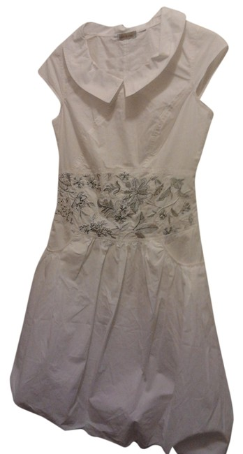 Other short dress White Bubble Hem Petar Pan Collar on Tradesy
