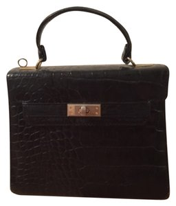 Vanessa Vintage Satchel in Black
