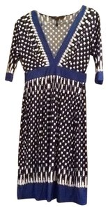 BCBGMAXAZRIA short dress Blue, black and white on Tradesy