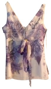 Tahari Top Multi floral (purples)