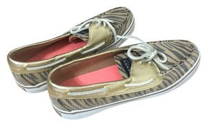 Sperry Gold and brown metallic Flats