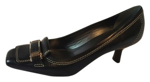 Cole Haan Mid Black Leather Pumps
