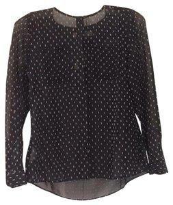 Ann Taylor LOFT Top black; white