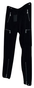 L.A.M.B. Straight Pants Black (satin)