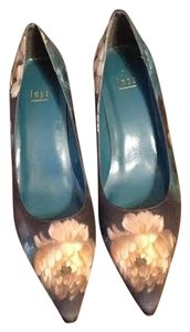 IMPO blue with flowers Pumps