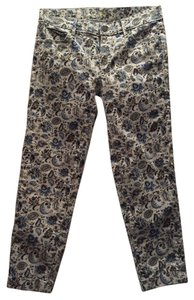 Ann Taylor LOFT Capri/Cropped Pants Light blue multi print