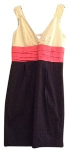 BCBGMAXAZRIA short dress Ivory, coral, navy Nautical Pockets on Tradesy