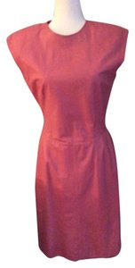 Vakko short dress pink Leather Hot Vintage on Tradesy