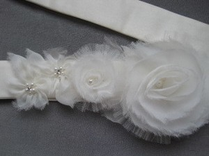 Preload https://item3.tradesy.com/images/ivory-organza-and-tulle-flower-sash-54842-0-0.jpg?width=440&height=440