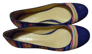 Nine West Blue Rainbow Flats