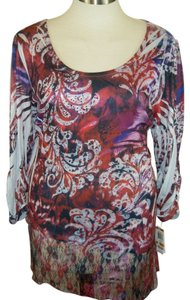 style & co Top multi red